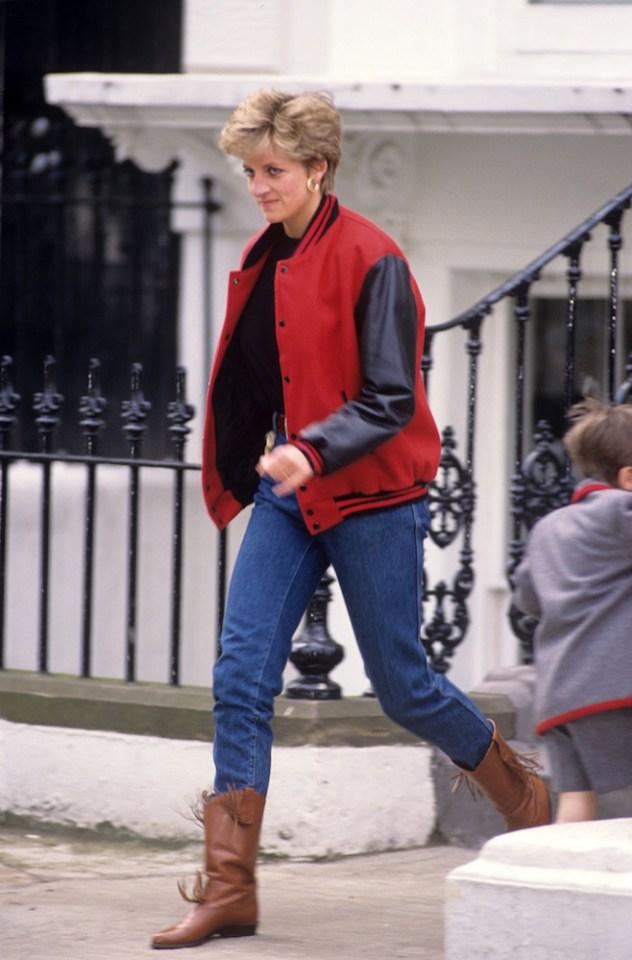Diana on the school run in Kensington in 1992