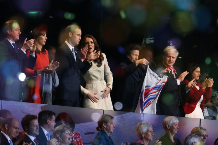 Jennifer Arcuri says he turned up at her flat hours before launching the Paralympics with the Royals and his then wife Marina (far right)