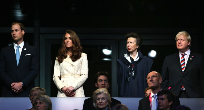 Boris, then London Mayor, was seen alongside Princess Anne and William and Kate