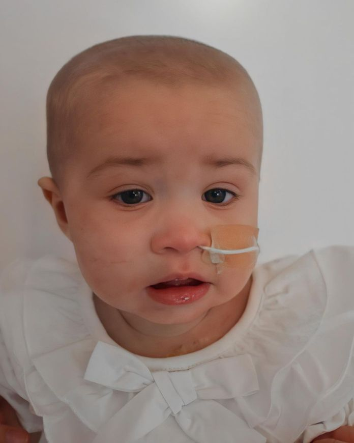He wants to fly with the poorly tot to Singapore where she can receive treatment