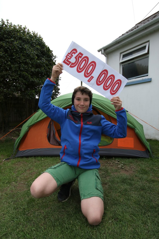 Max Woosey is on course to smash a £500,000 charity target