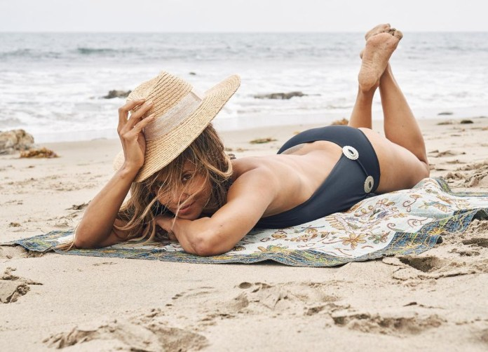 The actress knows how to unwind too — posting this photo of her on the beach
