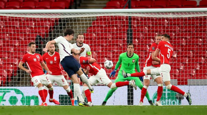 Maguire smashed in a fine strike to make it three straight World Cup qualifier wins for England