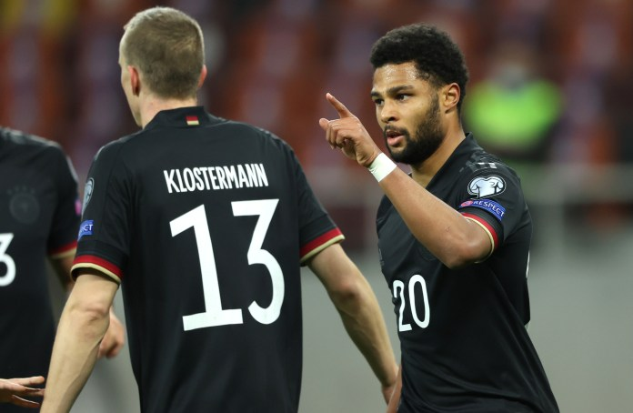 Serge Gnabry kept his fine international form going with another goal for Germany