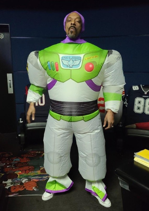 Snoop Dogg embraced his childish side as he dressed up as a Toy Story character