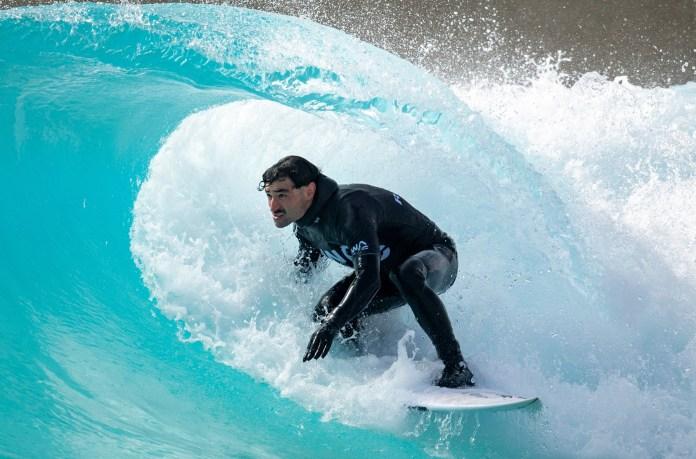 One reveller enjoyed inland surfing in Bristlol