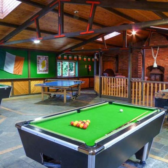Groups will love the on-site games room
