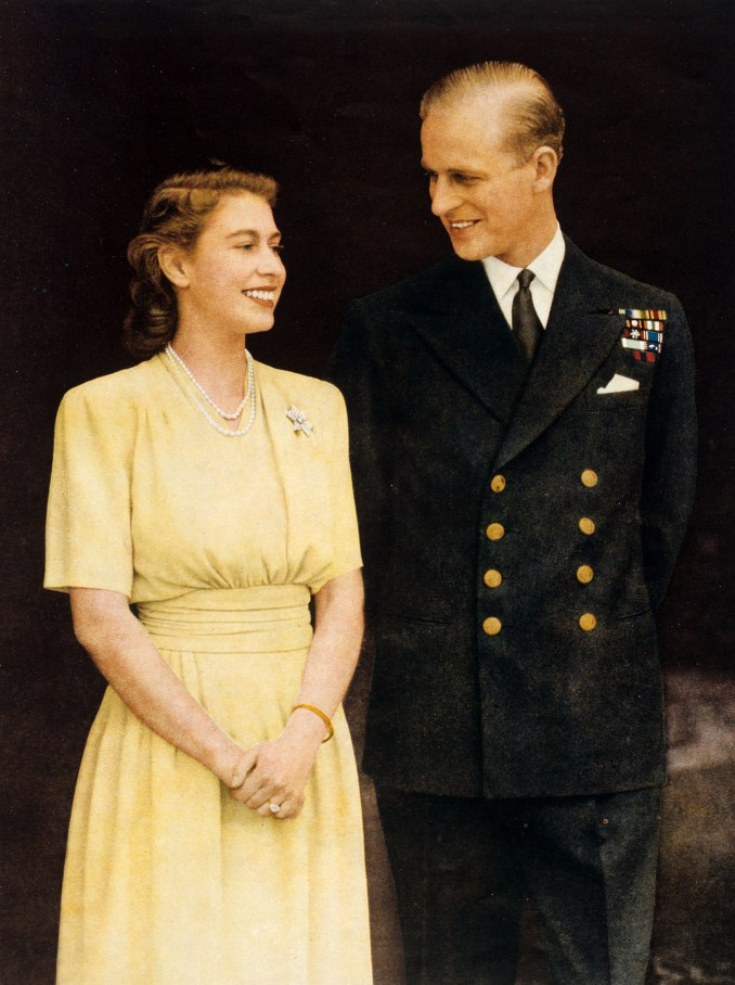 The Queen, pictured with Philip in 1950, will be able to stand close to, and be comforted by, those in her personal bubble