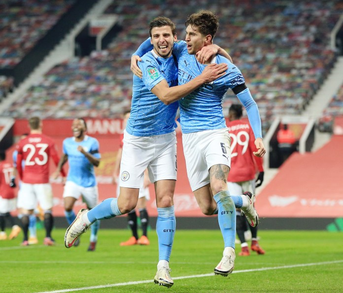 Ruben Dias and John Stones look like leading Manchester City to the title