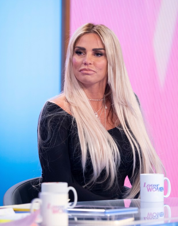 Katie Price has said she is 'weak with men' and 'picks t***ers'