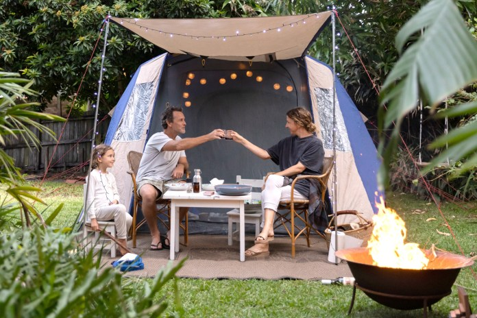 Retailers have said that sales of patio heaters, firepits and gazebos have soared as families reunite outdoors in the chilly weather this Easter