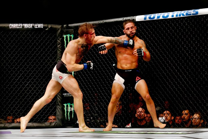 Conor McGregor knocked out Chad Mendes in 2015