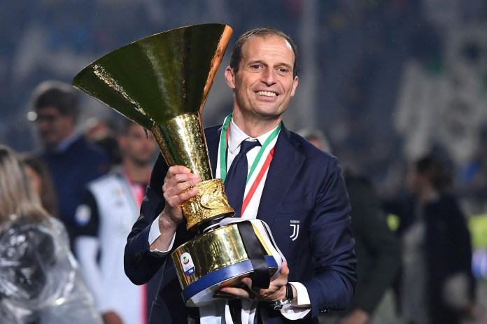Fellow former Juventus coach Massimiliano Allegri is also wanted by Roma