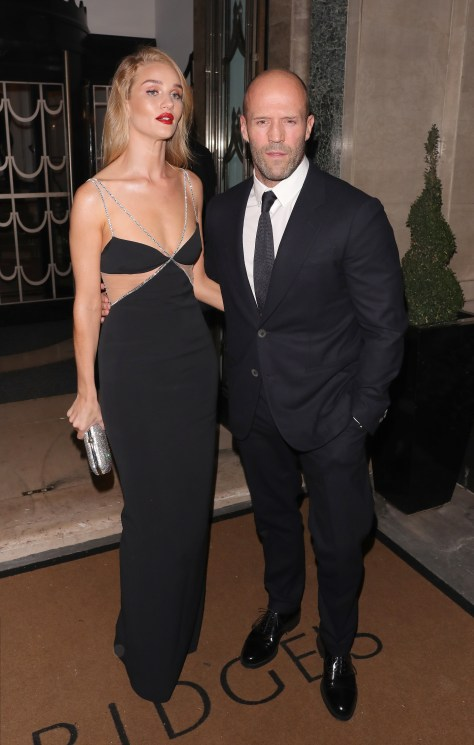 The blonde stunner is engaged to Hollywood actor Jason Statham
