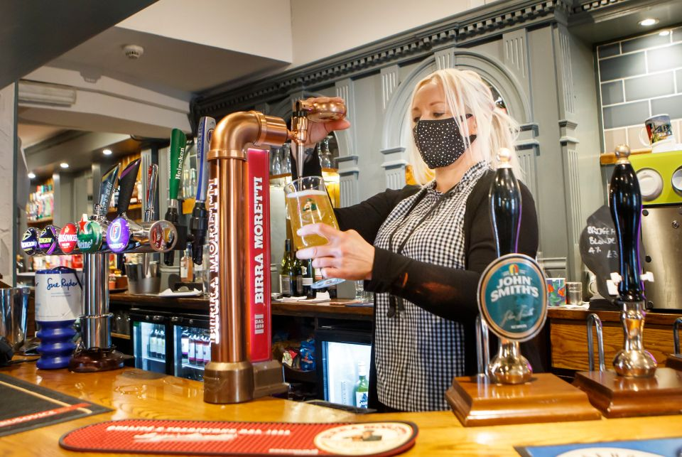 Pubs have been looking forward to serving thirsty Brits after lockdown
