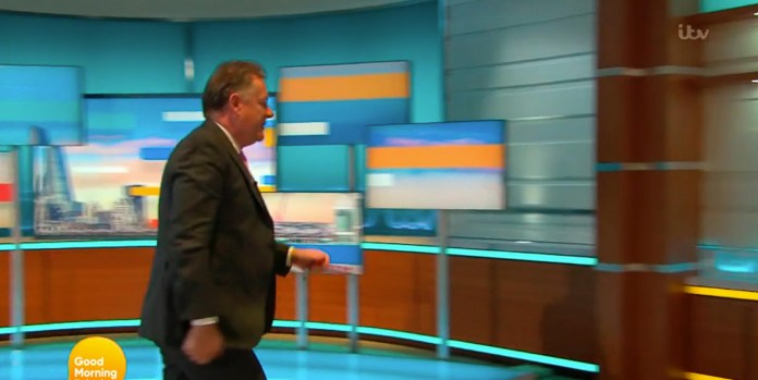 Piers famously walked off the GMB set live on air