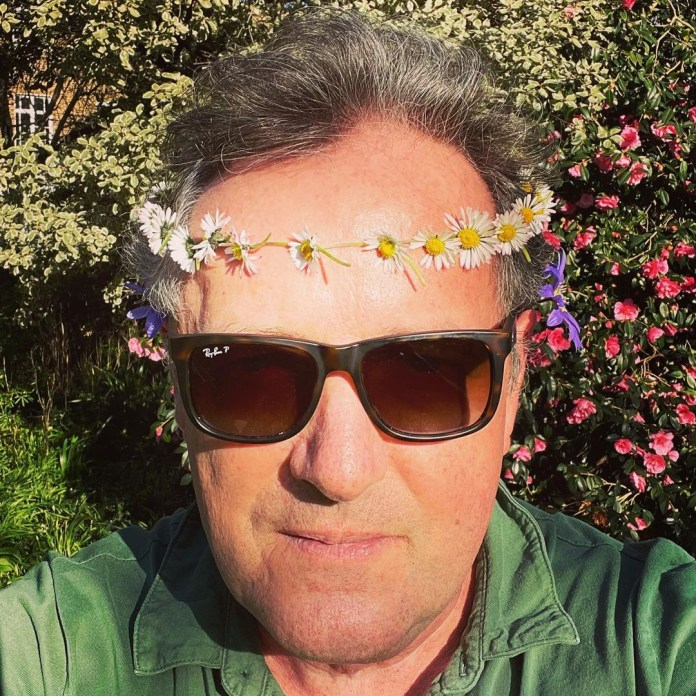 It comes after Piers was seen wearing a daisy chain on his head