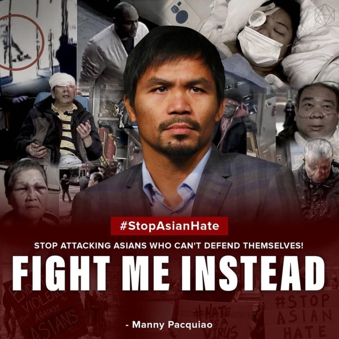 Manny Pacquiao has spoken up against Asian hate