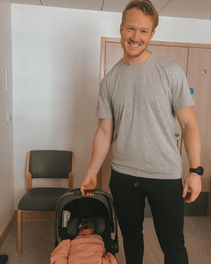 Greg Rutherford has posted the first pictures of his baby daughter