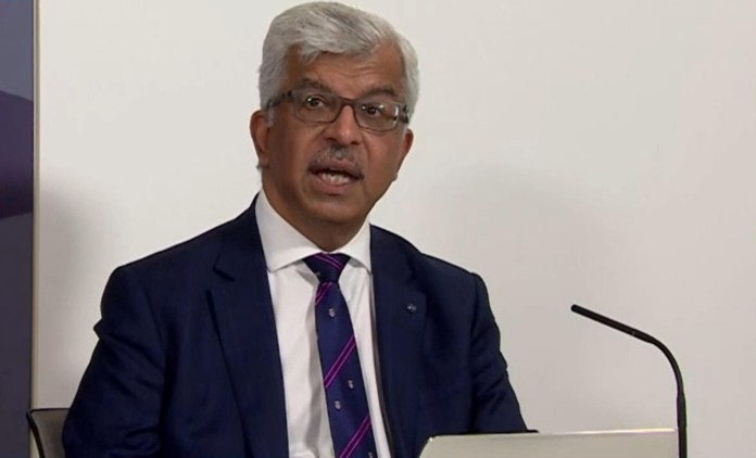 Women do not appear to be more at risk of blood clots after the AstraZeneca vaccine, according to Professor Sir Munir Pirmohamed, chairman of the Commission on Human Medicines (pictured on April 7)