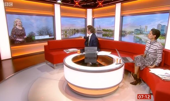 Carol was discussing the concept of weather with co-host Naga Munchetty