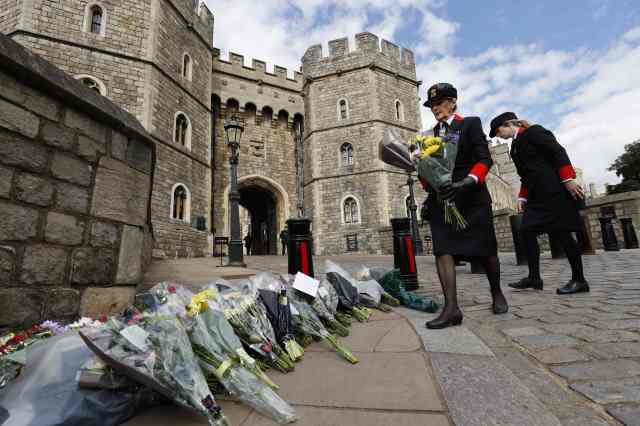 Flowers laid at Windsor Castle