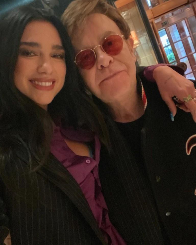 Dua Lip shares photo from final meeting with Sir Elton John
