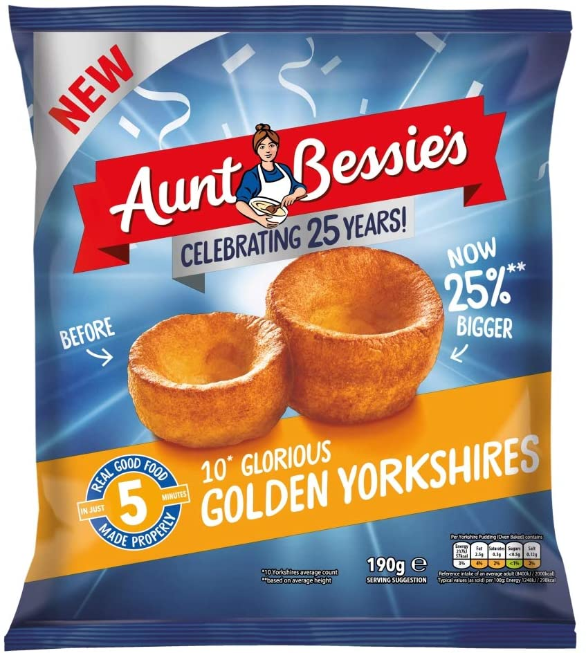 Aunt Bessie's Glorious Golden Yorkshire Puddings are just £1 at Asda