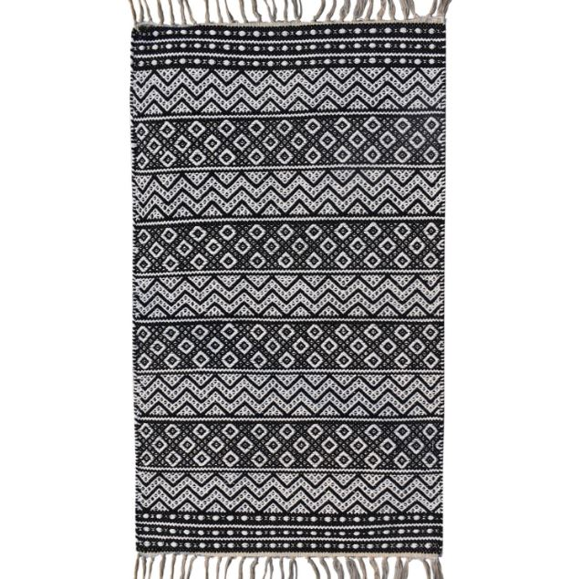 The patterned rug has almost £10 off the full price tag