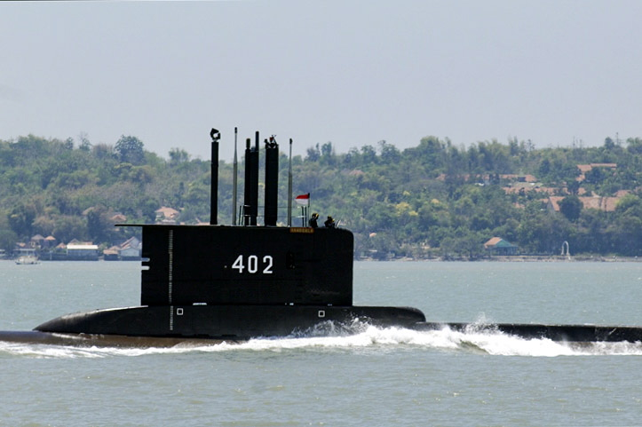 KRI Nanggala-402 was conducting a torpedo drill in waters north of the island of Bali when it disappeared on Wednesday