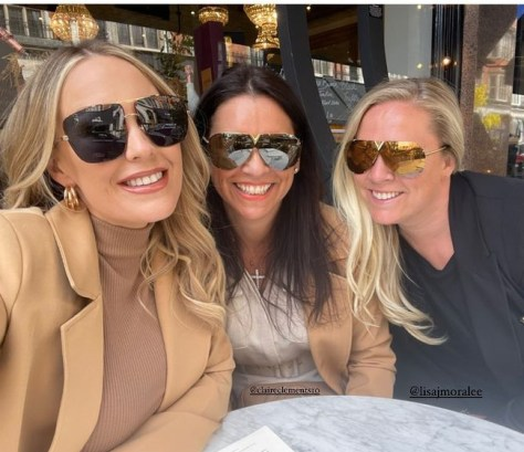 Kate Ferdinand enjoyed a girls' day out in London yesterday