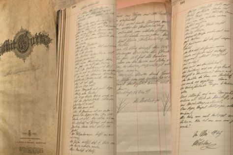 The diaries were handed over by Quedlinburg descendants as a show of remorse to Poland for their ancestors actions