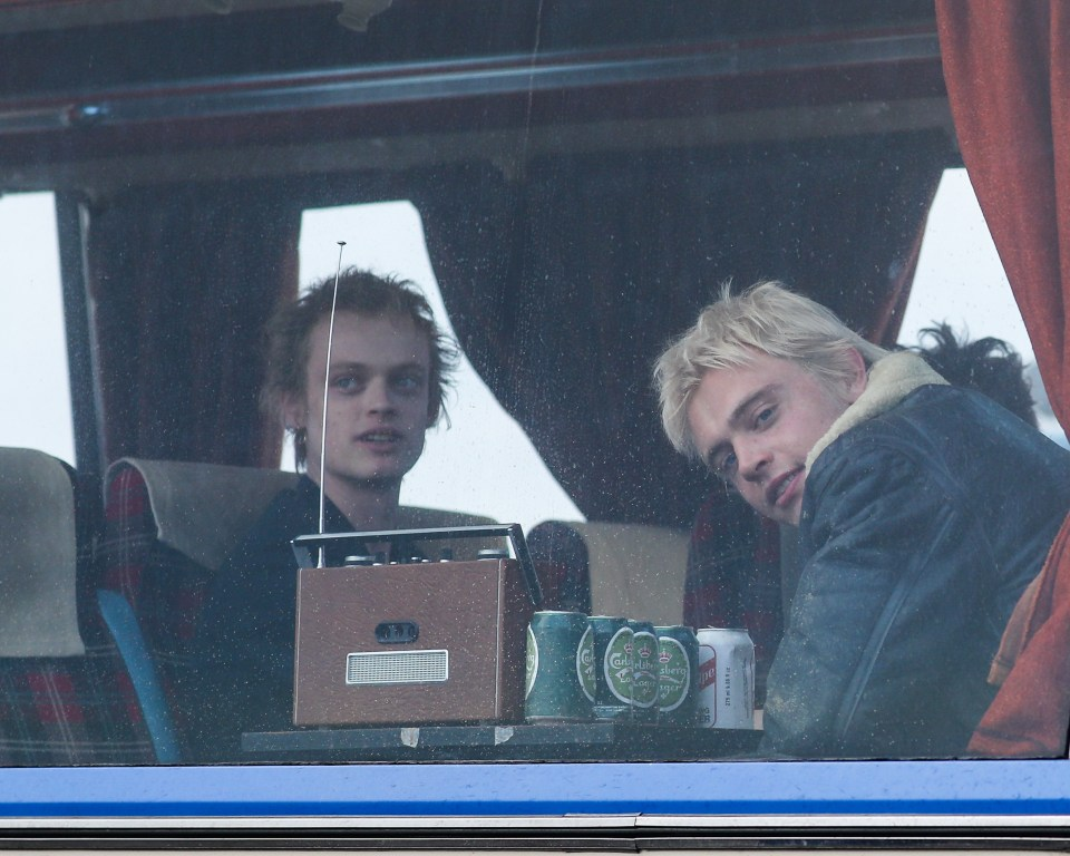 Anson Boon and Jacob Slater were also spotted filming the new drama