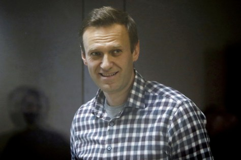 Russina opposition leader Navalny, 44, before going on hunger strike