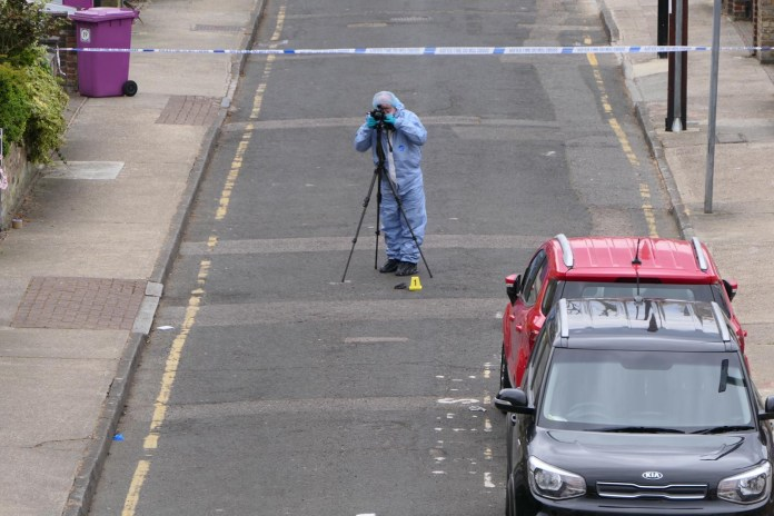 Cops raced to the scene near George Green School on Parsonage Street just after 8.50am this morning following reports of a stabbing