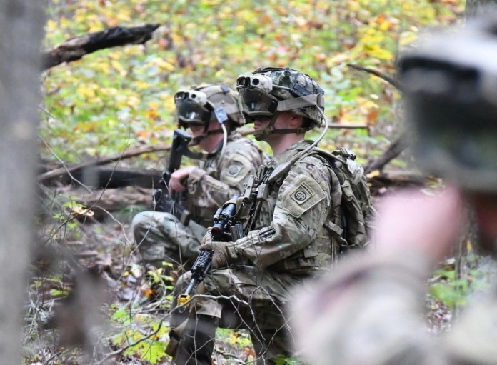 Pentagon officials have described the futuristic technology as a way of boosting soldiers' awareness of their surroundings