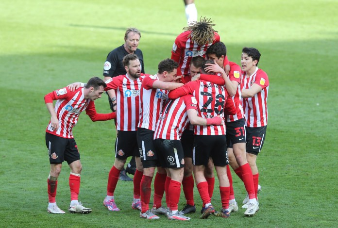 Sunderland celebrated wildly after beating a fellow promotion-chaser