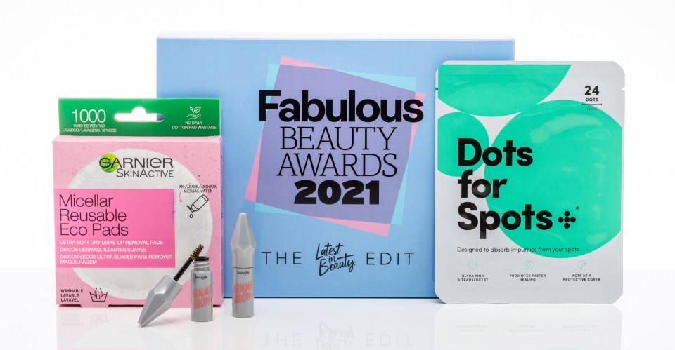Products from Garnier and Benefit Cosmetics feature in the Fabulous Beauty Awards 2021 box