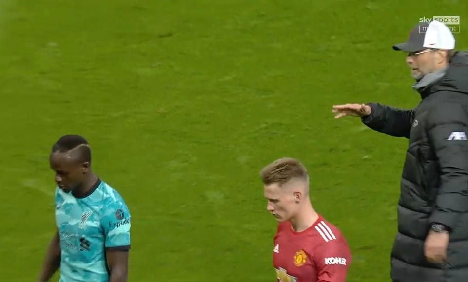 Sadio Mane waved away Jurgen Klopp's post-match handshake on Thursday