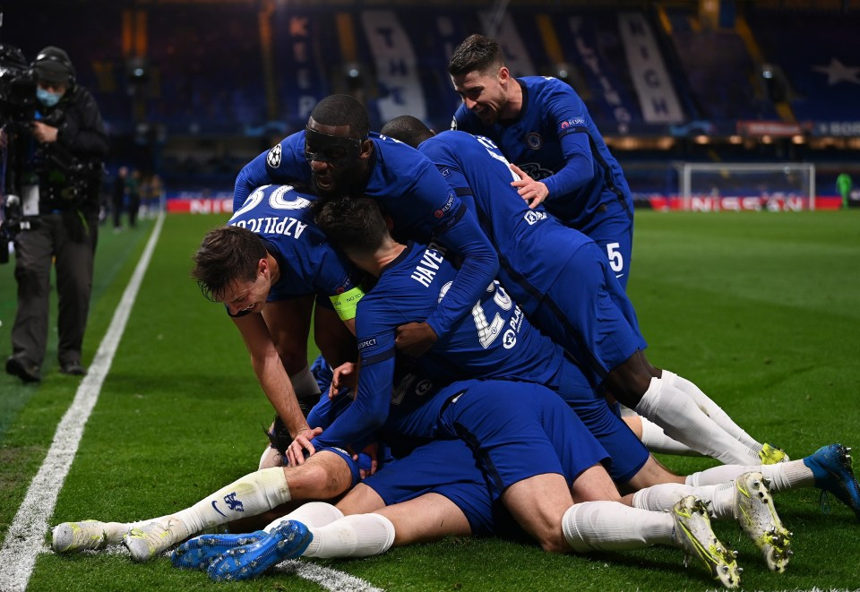 Chelsea celebrated wildly after scoring a late second goal to clinch a spot in the final