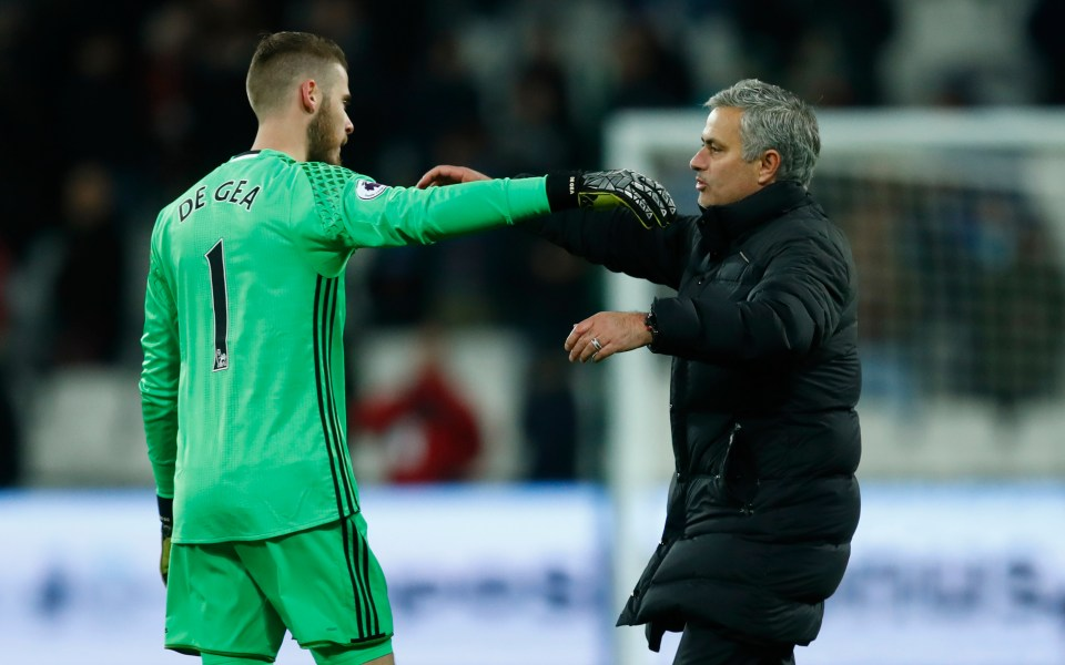 Mourinho coached De Gea for some of the best years of the keeper's career