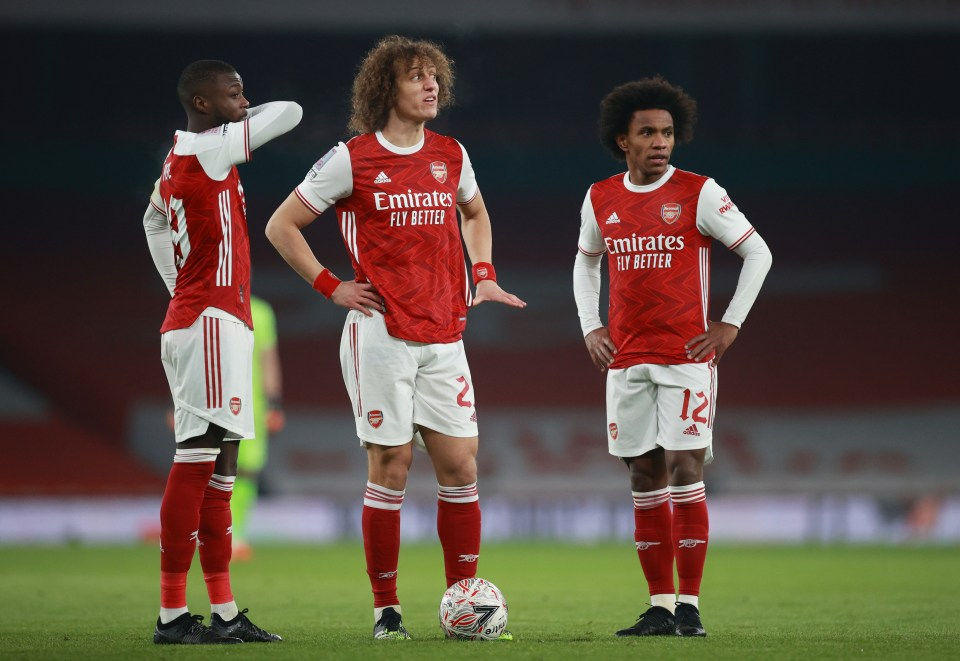 High-profile signings like Nicolas Pepe, David Luiz and Willian are all under the microscope as Arsenal slip further towards complete freefall