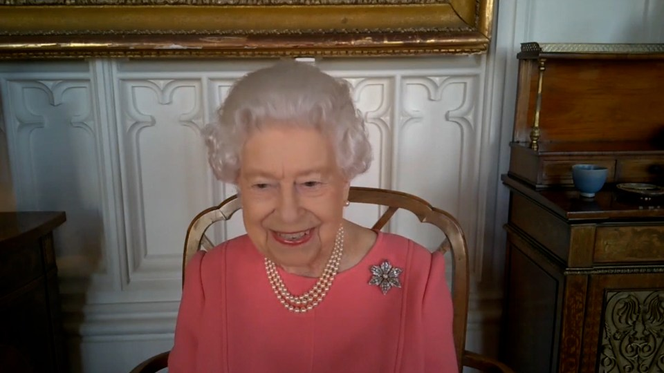 The monarch often chats to her great-grandson via video call