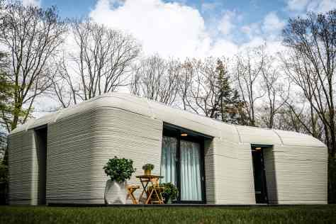 A Dutch couple has moved into Europe's first fully 3D-printed house