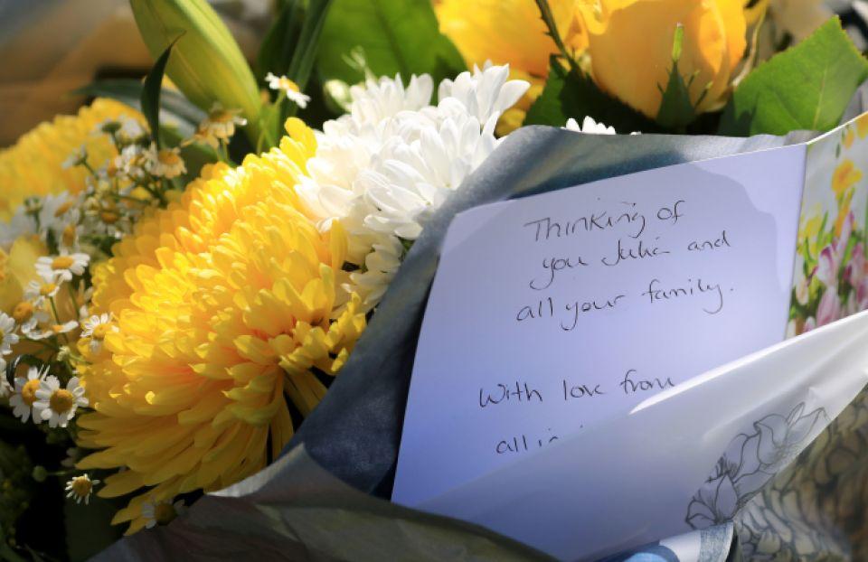 Tributes were left for Julia