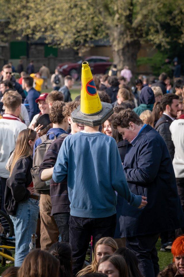Boozy Students on Jesus Green, Cambridge