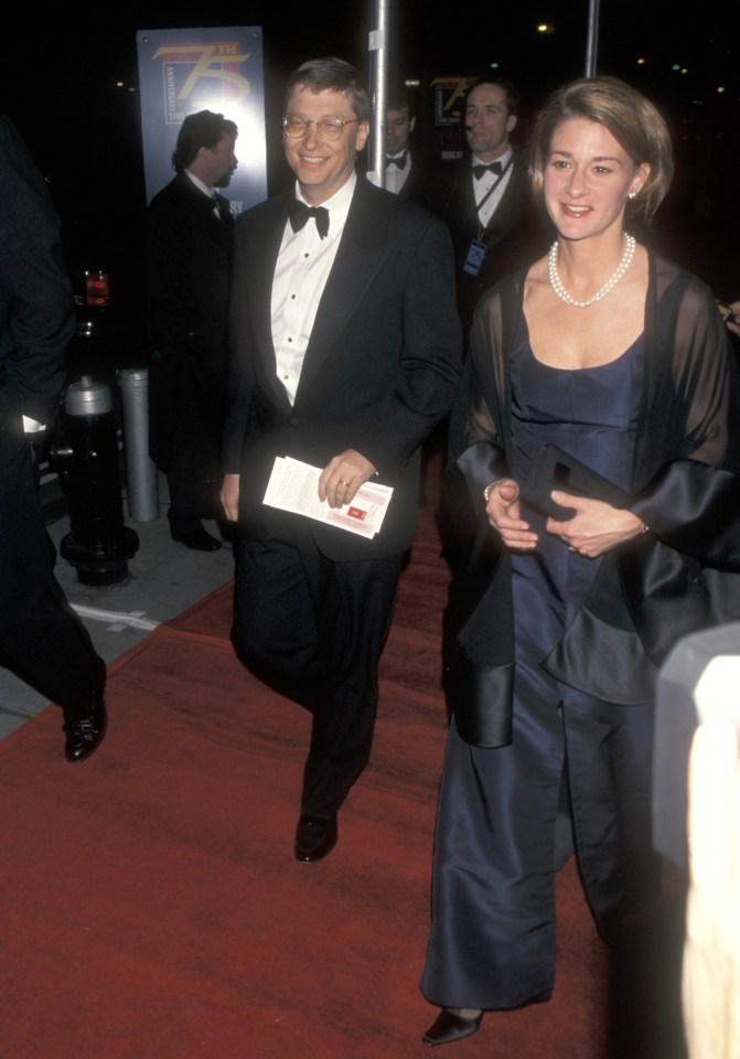 The couple attend the Time magazine's 75th anniversary celebration in 1998