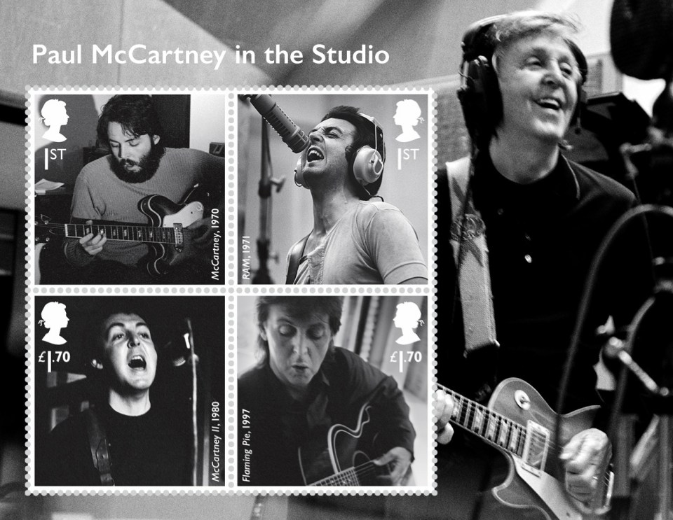 Royal Mail have released a set of special stamps to honour music legend Sir Paul McCartney