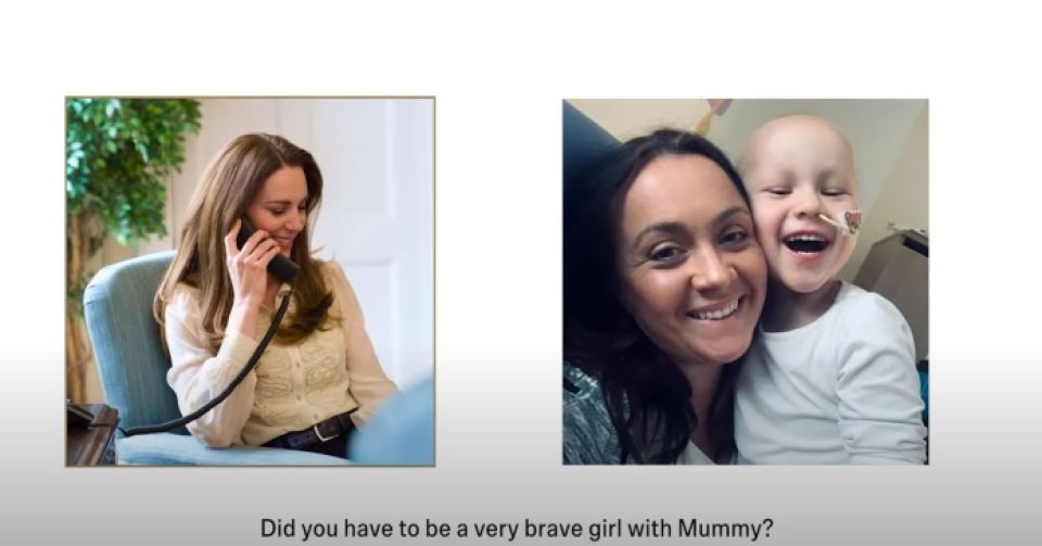 Kate spoke to little Mila and her mother, whose photo is published in Hold Still