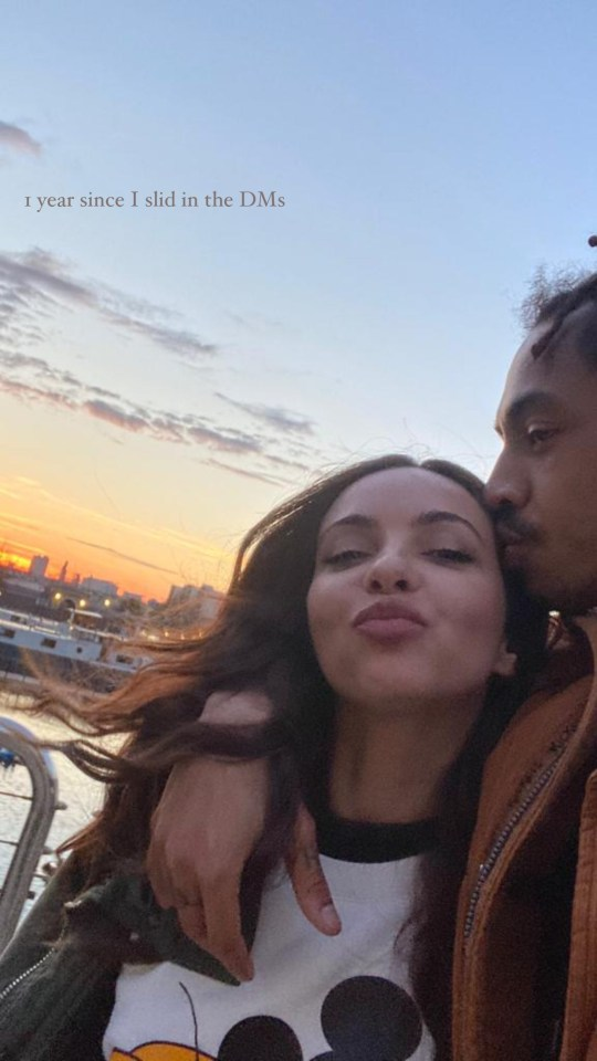 Meanwhile, Jade marked one year since she 'slid into her boyfriend's DMs' at the weekend
